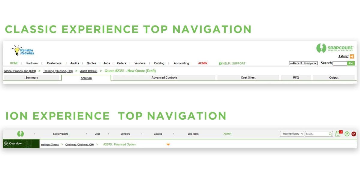 Top-Navigation